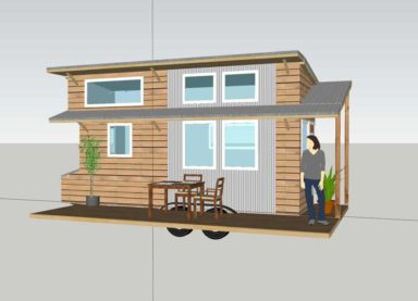 Tiny Project tiny house rendering