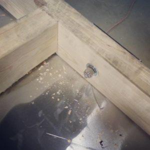 Inside bolt detail