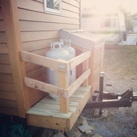 Tiny house propane tanks