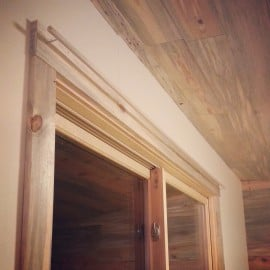 home-made curtain rod