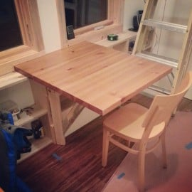 table folded up!
