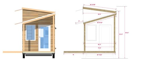 Tiny Project Tiny House Front Elevation