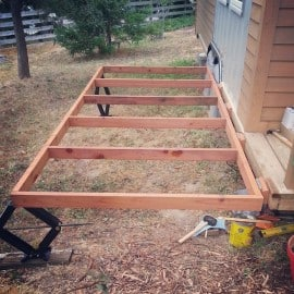 tiny house deck framing