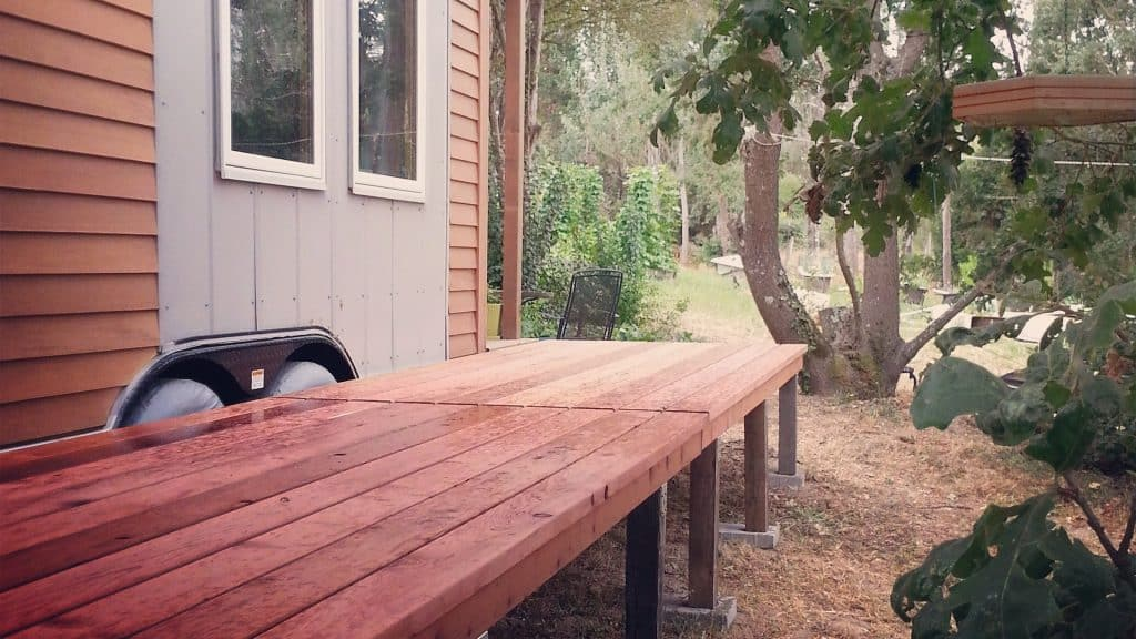 tiny house folding deck