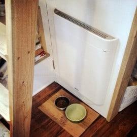 Envi flat panel tiny house heater