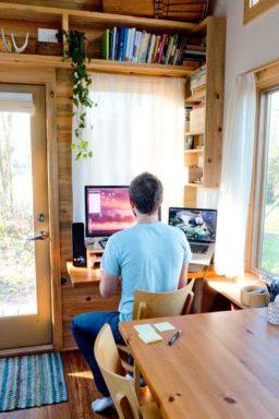 tiny house office workstation