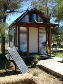 A SolMan Classic without side PV panels running a Tiny House at the Solar Living Center, Hopland, CA