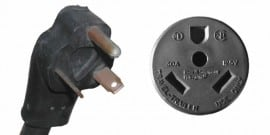 30 amp/120 volt RV style plug and receptacle