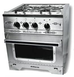 DickinsonMediterranean 3 Burner Propane Galley Range