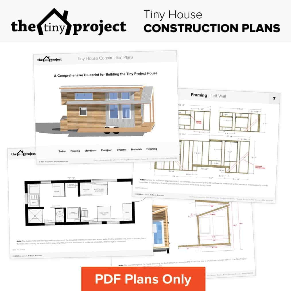 Our Tiny House Floor Plans Construction Pdf Only The Tiny Project