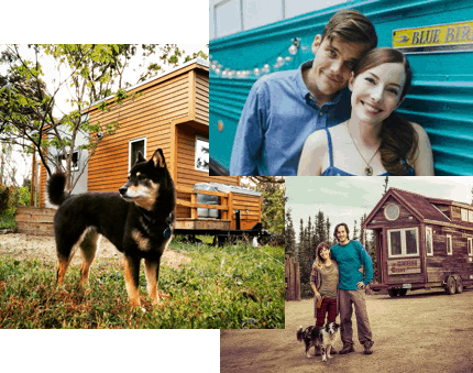 Tiny house couple and living
